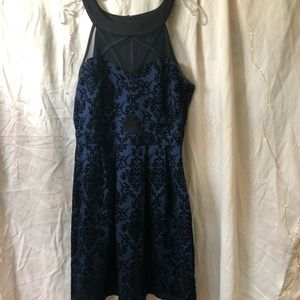 Navy blue and black detailed dress.